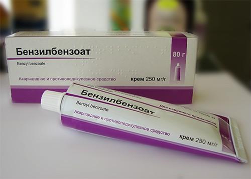 Бензилбензоат для лечения чесотки