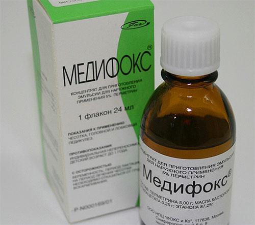 Медифокс — мазь, применяемая для лечения чесотки и педикулеза