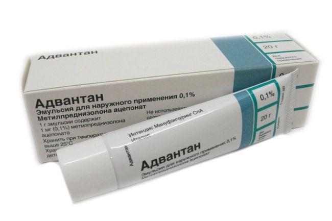 Мазь Адвантан является хорошим средством при экземе на локтях. Перед использование нужно проконсультироваться с врачом